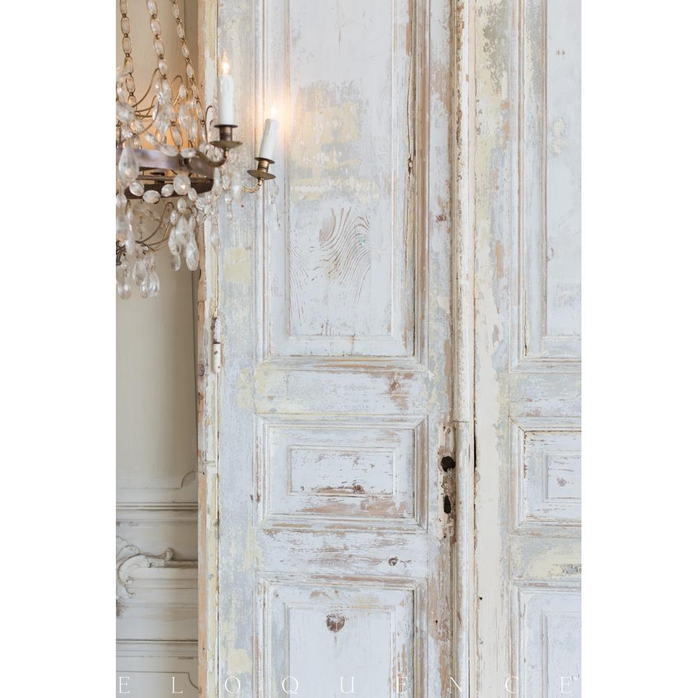 French country style vintage doors 1940 kathy kuo home for French style double doors