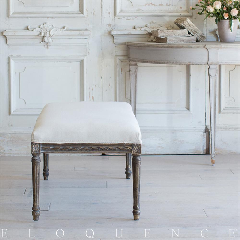 French Country Style Vintage Bench 1940 Kathy Kuo Home