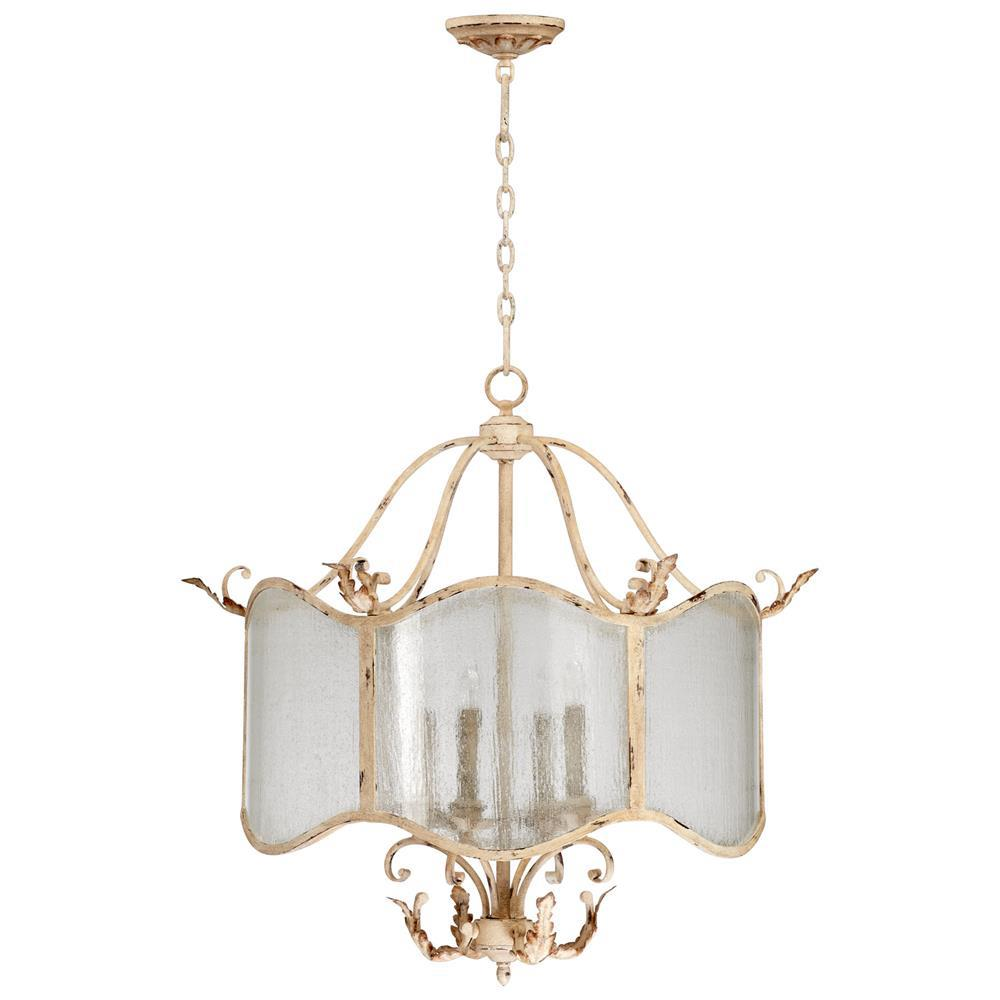 Maison french country antique white 4 light nook French country chandelier