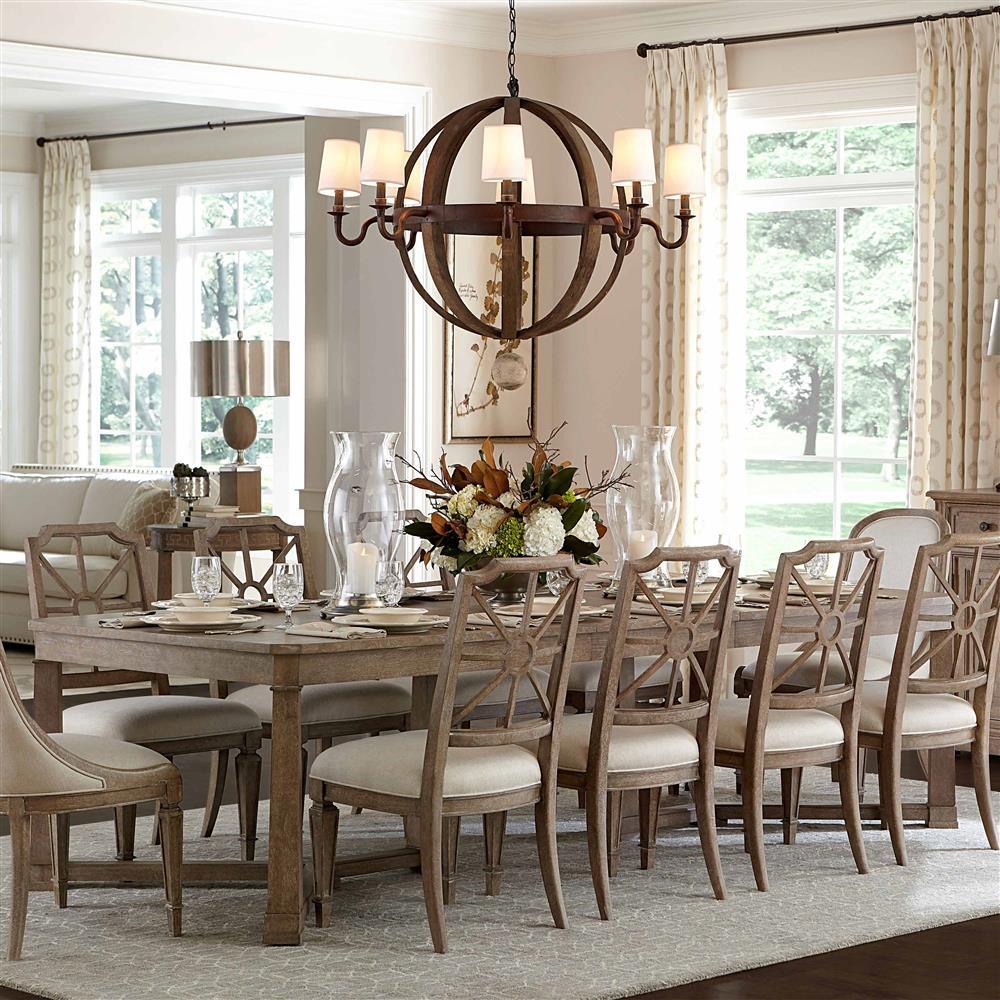 Kitchen Modern Classic: Michelle Modern Classic Maple Rectangular Extension Dining