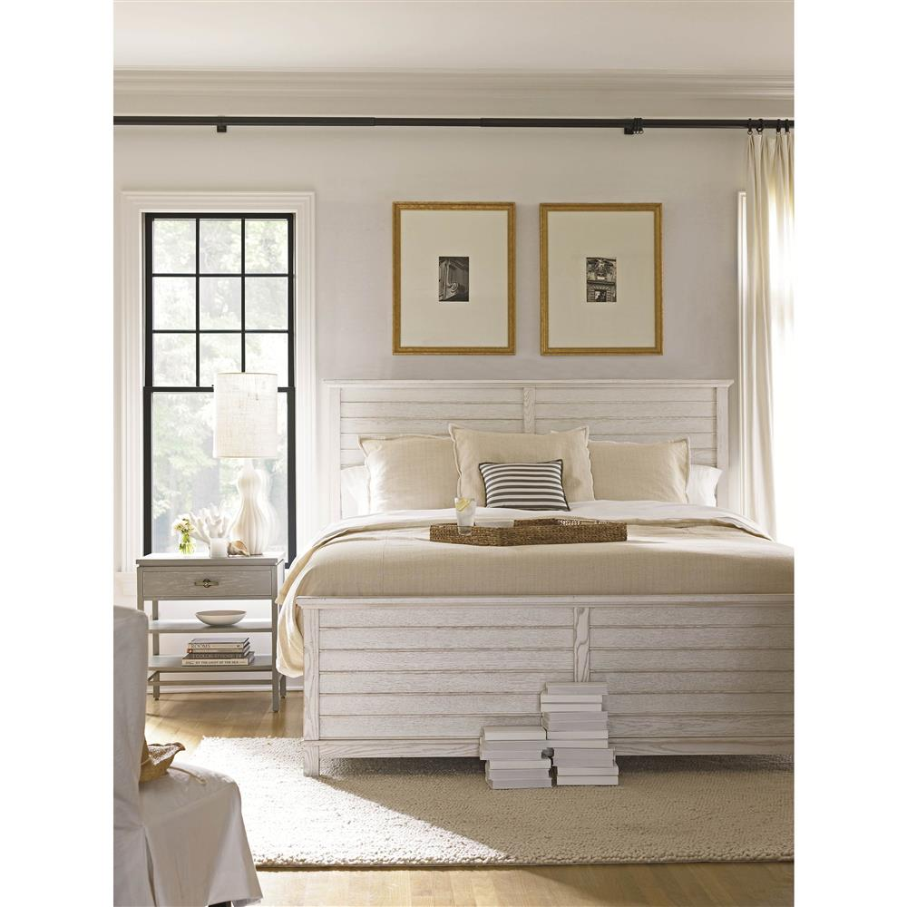 Liam Coastal Beach Distressed Wood Bed - Queen | Kathy Kuo Home