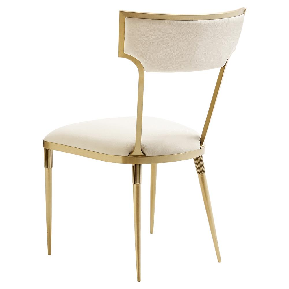 marlene hollywood regency gold plated creme suede dining chair marlene hollywood regency gold plated creme suede dining chair pair kathy kuo home