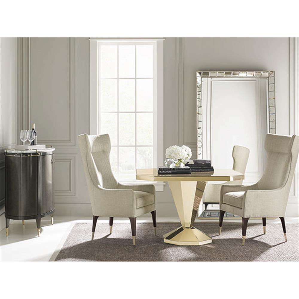 poppy hollywood regency square golden dining table kathy kuo home. Black Bedroom Furniture Sets. Home Design Ideas