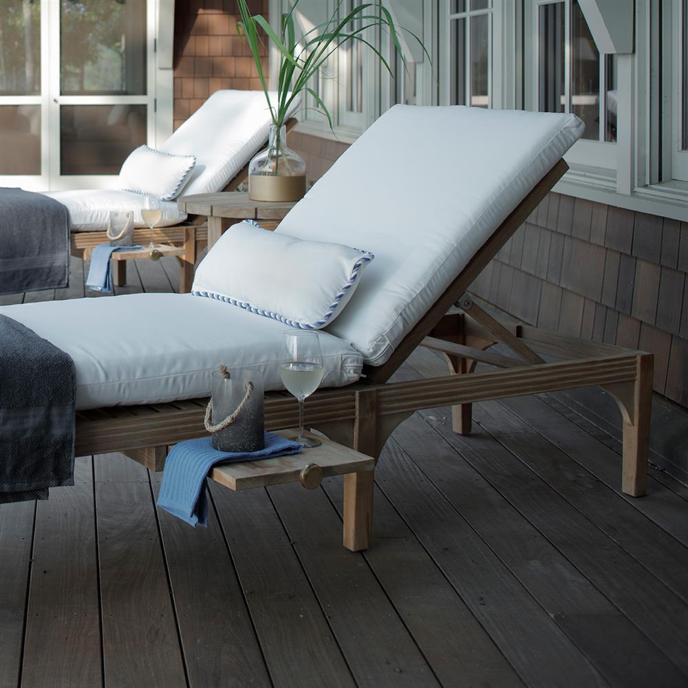 Summer Classics Club Teak Modern Classic Chaise Lounge