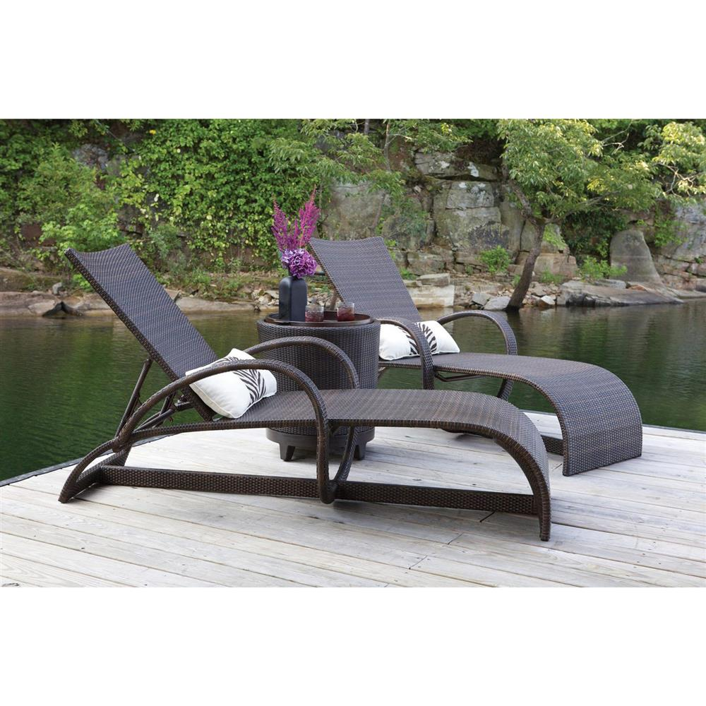 Summer classics halo modern coastal outdoor black walnut for Belmont black wicker patio chaise lounge