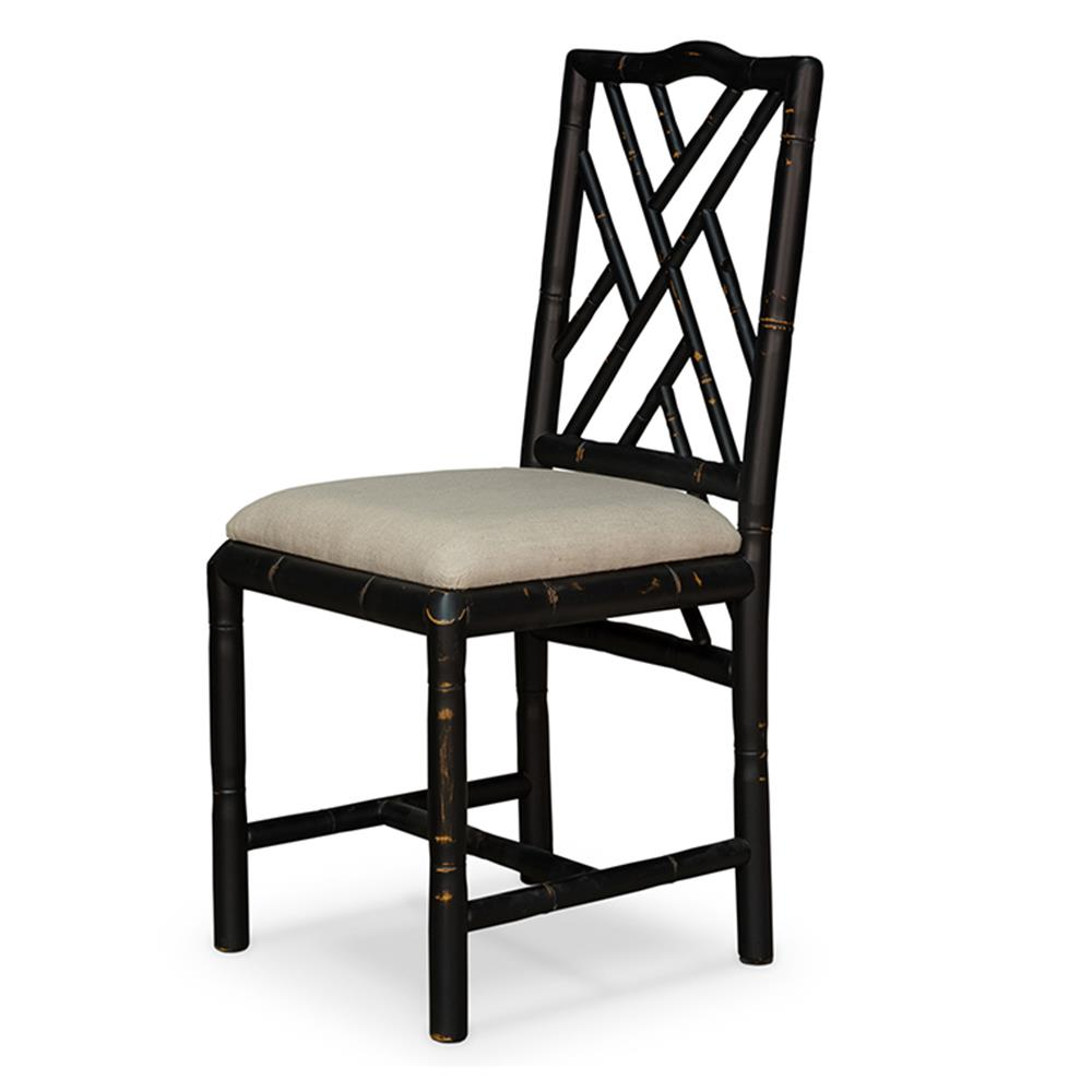 Grace french country oak linen upholstered dining chair for Upholstered linen dining chairs