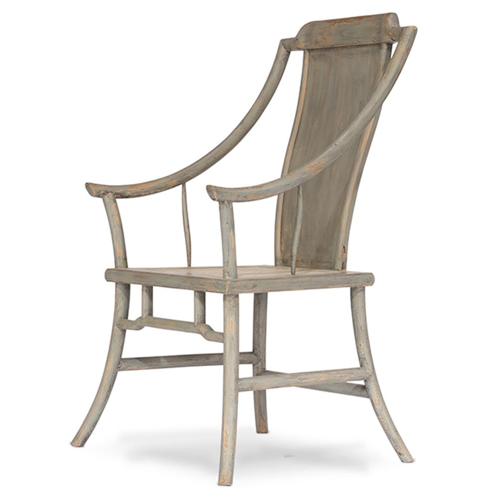 Antibes French Country Elm Washed Grey Wood Dining Chair   Kathy ...