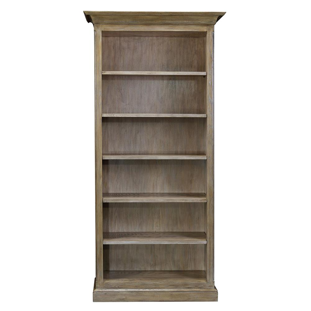 Carthage french country oak 5 shelf adjustable bookshelf for French country shelves