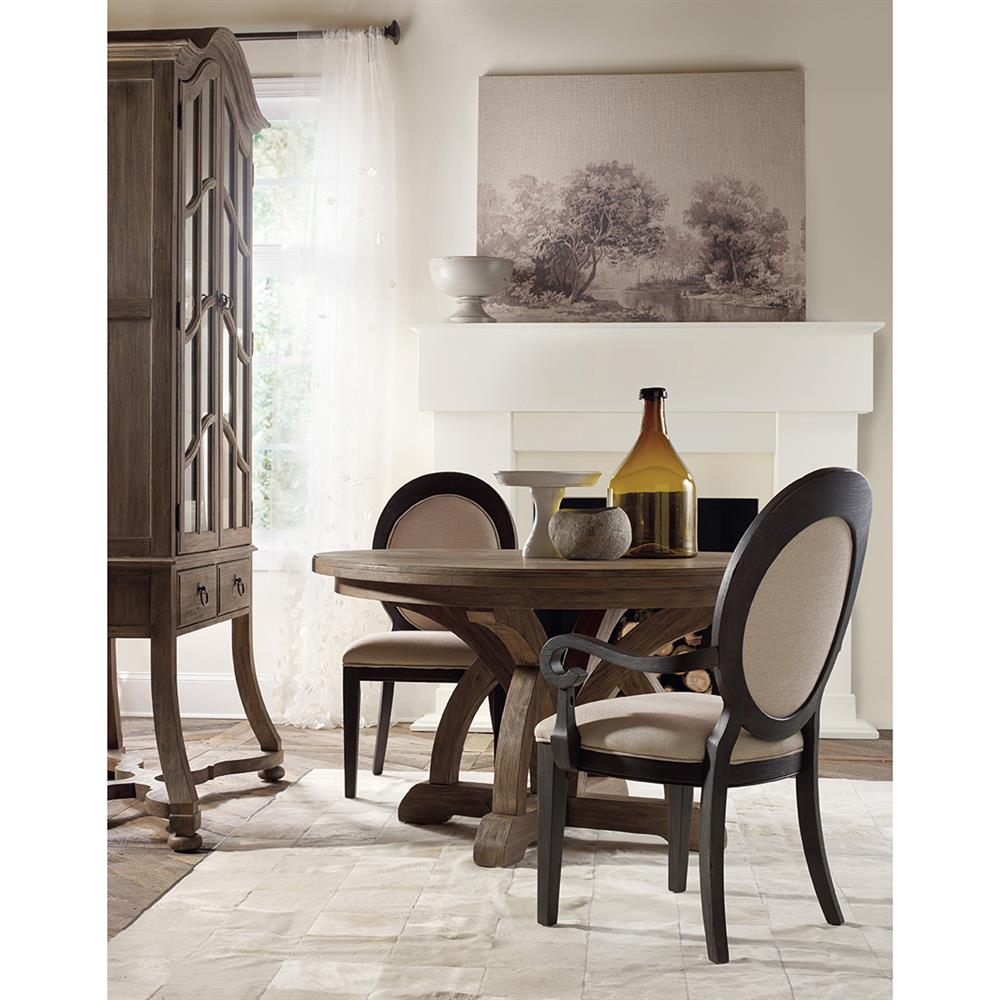 Vadim French Country Round Pedestal Dining Table Kathy