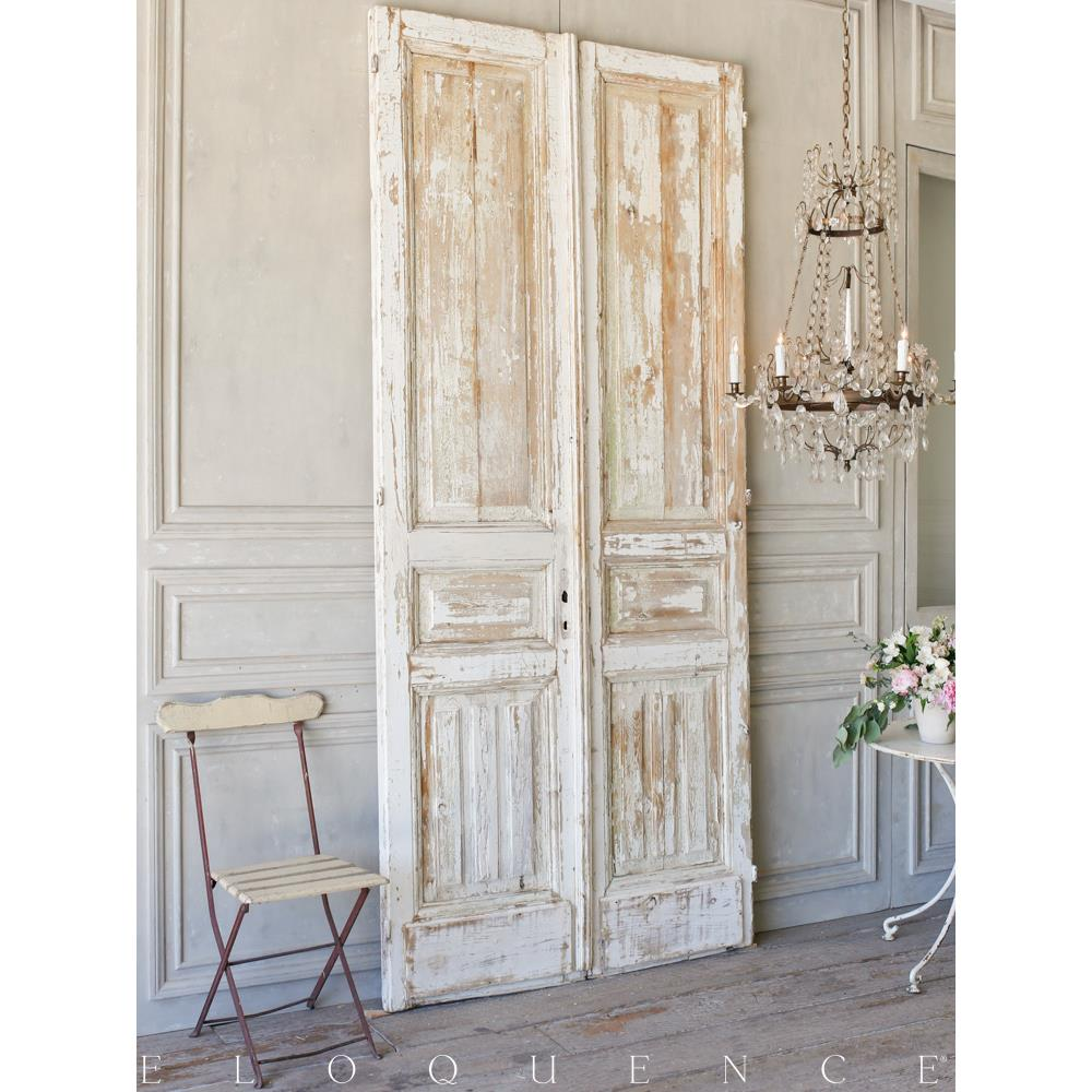 French country style eloquence pair of vintage doors 1940 for Country style doors