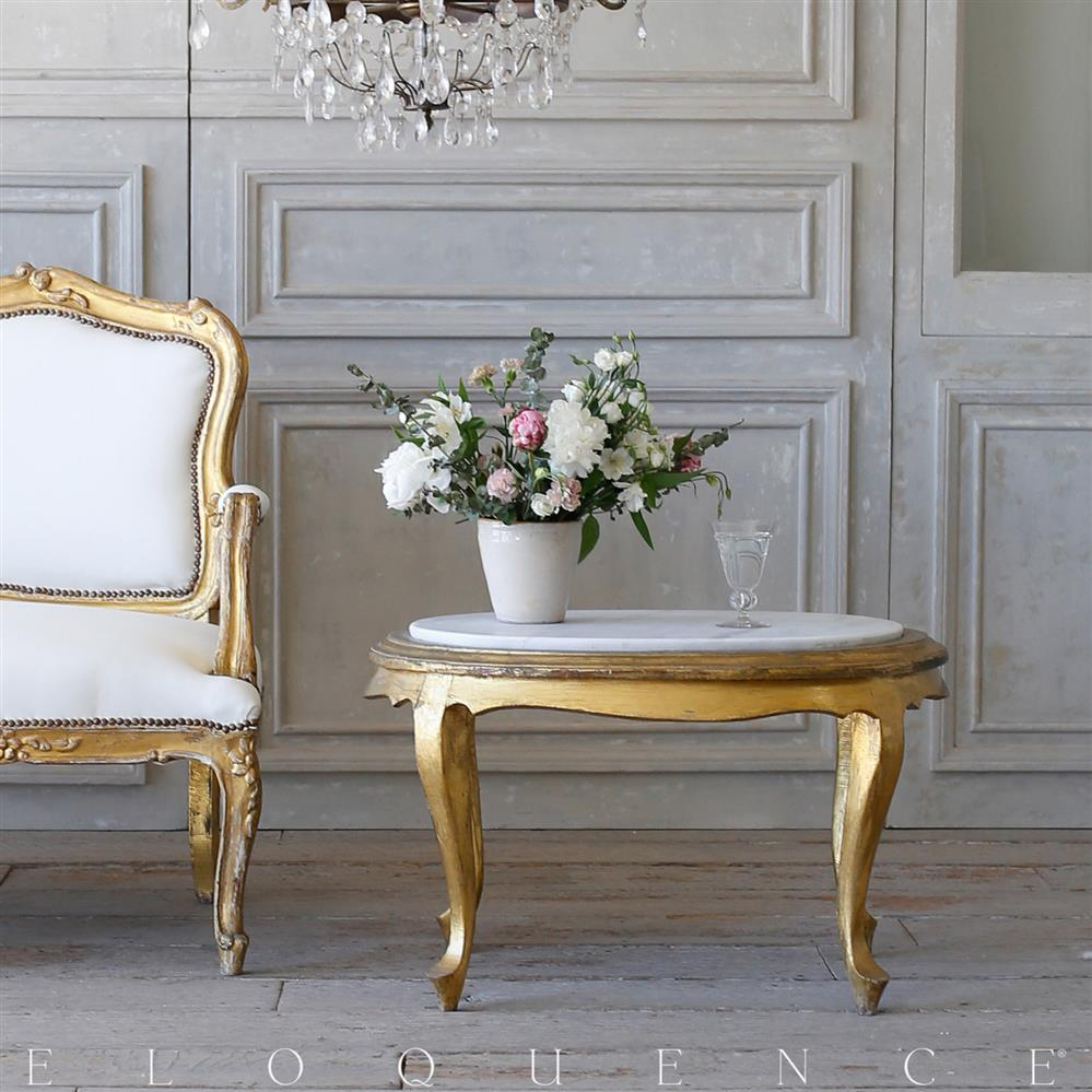 French country style eloquence vintage coffee table with marble french country style eloquence vintage coffee table with marble top 1940 kathy kuo view full size geotapseo Image collections