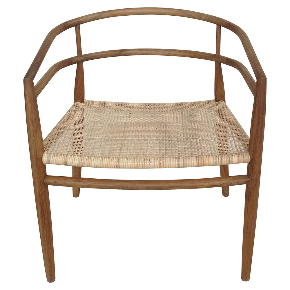Calantha French Country Teak Rattan Dining Chair Kathy