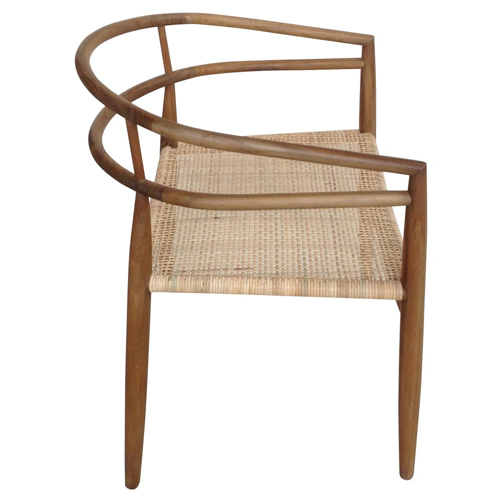 Calantha French Country Teak Rattan Dining Chair