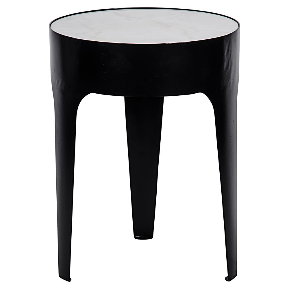 fallon modern classic cylinder quartz side table small. Black Bedroom Furniture Sets. Home Design Ideas
