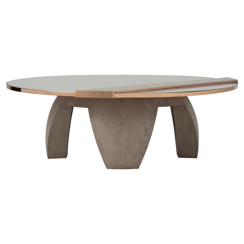 Kelly hoppen rembrandt modern classic round mirrored for Modern classic table