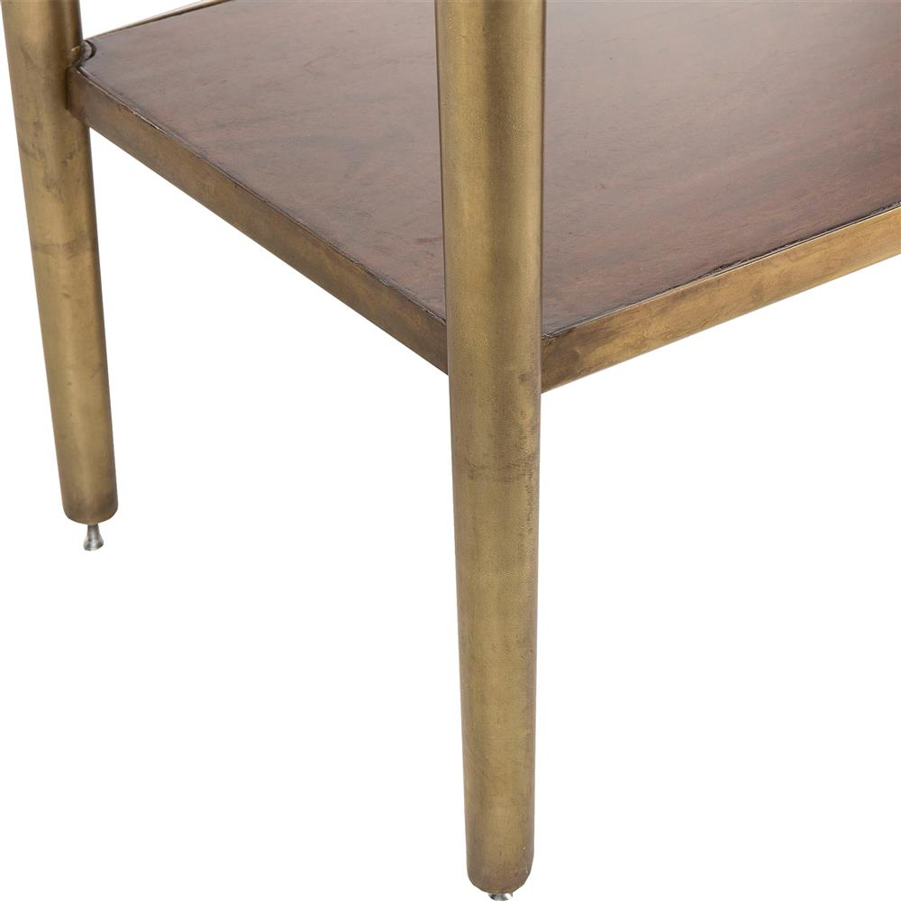 Charlotte Modern Classic Brushed Brass Trim 3 Drawer Console Table | Kathy  Kuo Home