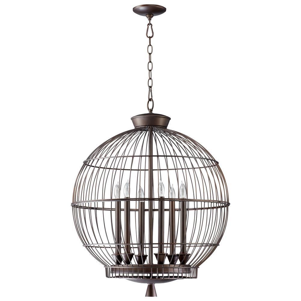 Foyer Globe Chandelier : Hendricks globe oil rubbed bronze light chandelier