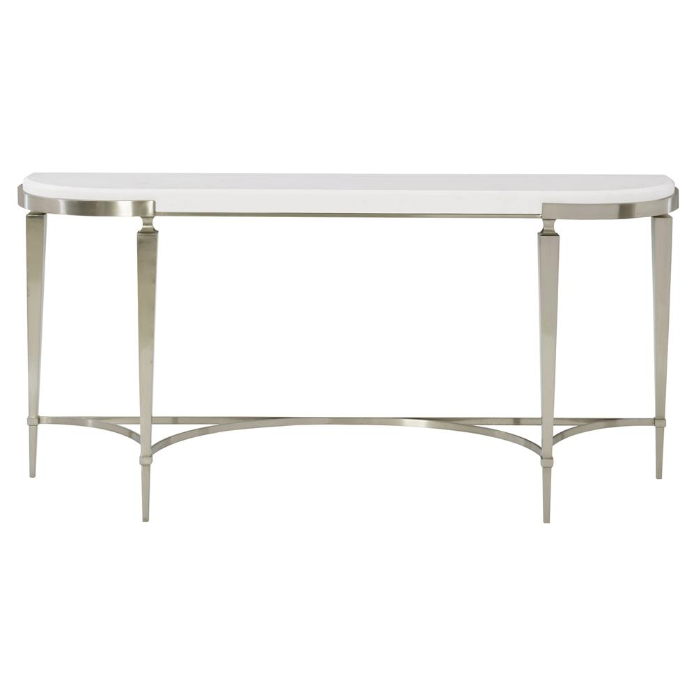 Hayley hollywood regency white quartz stone stop demilune console table kathy kuo home - White demilune console table ...