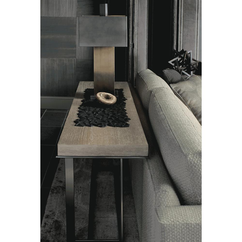 Gwyneth modern classic dark taupe rectangular console table for Classic taupe living room