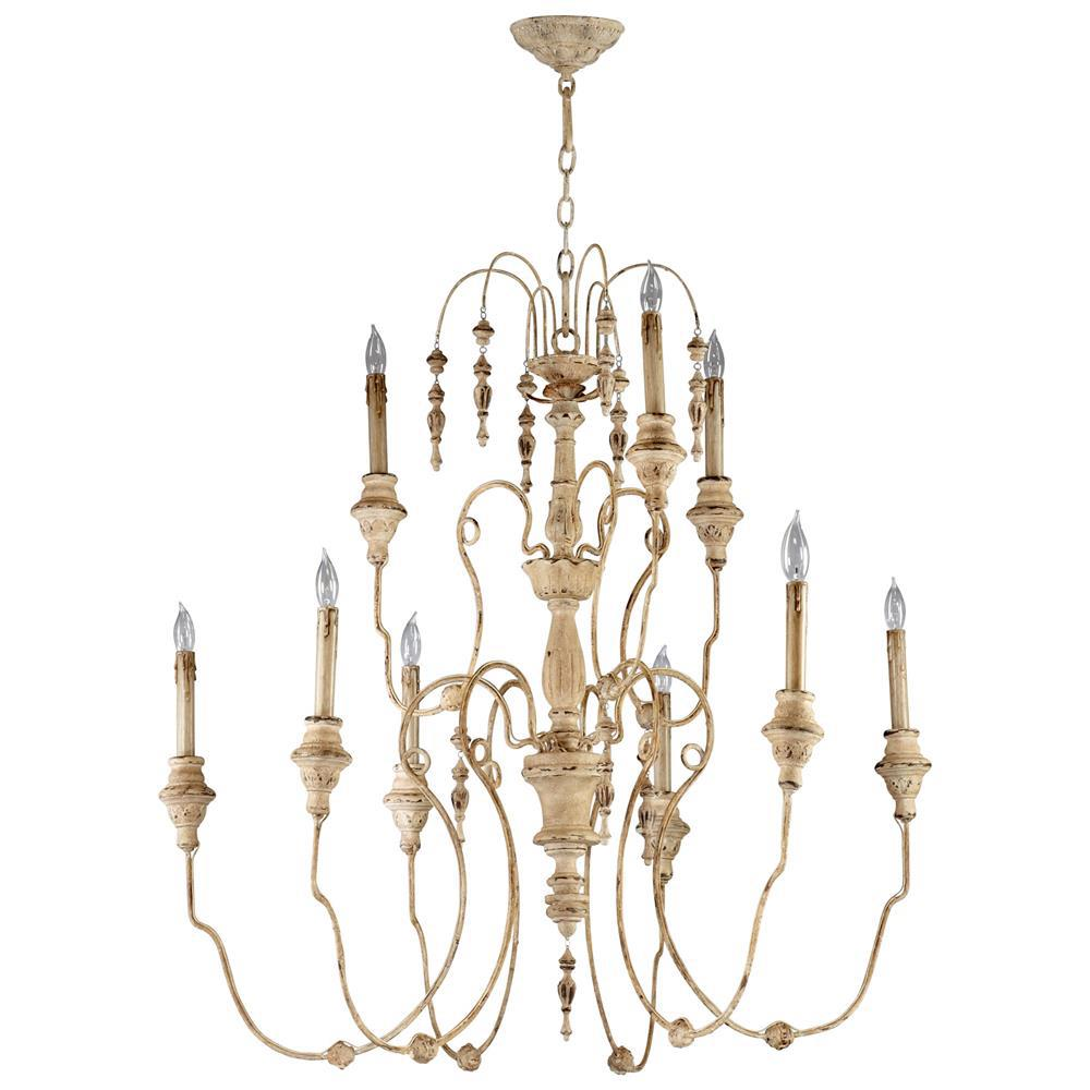 view full size ... - Maison French Country Antique White 9 Light Chandelier Kathy Kuo Home