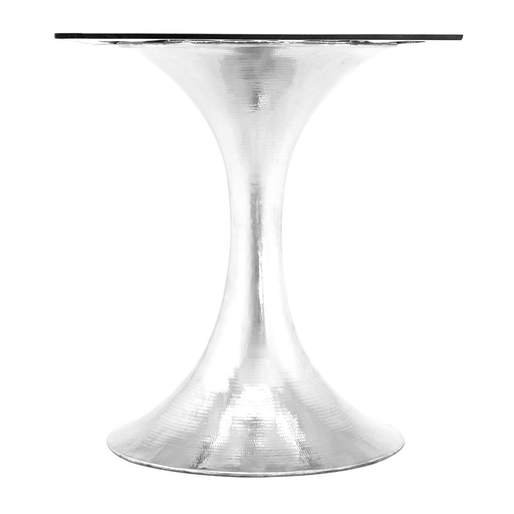 a2efcc023b19 ... Quinton Silver Tulip White Marble Round Dining Table - 60