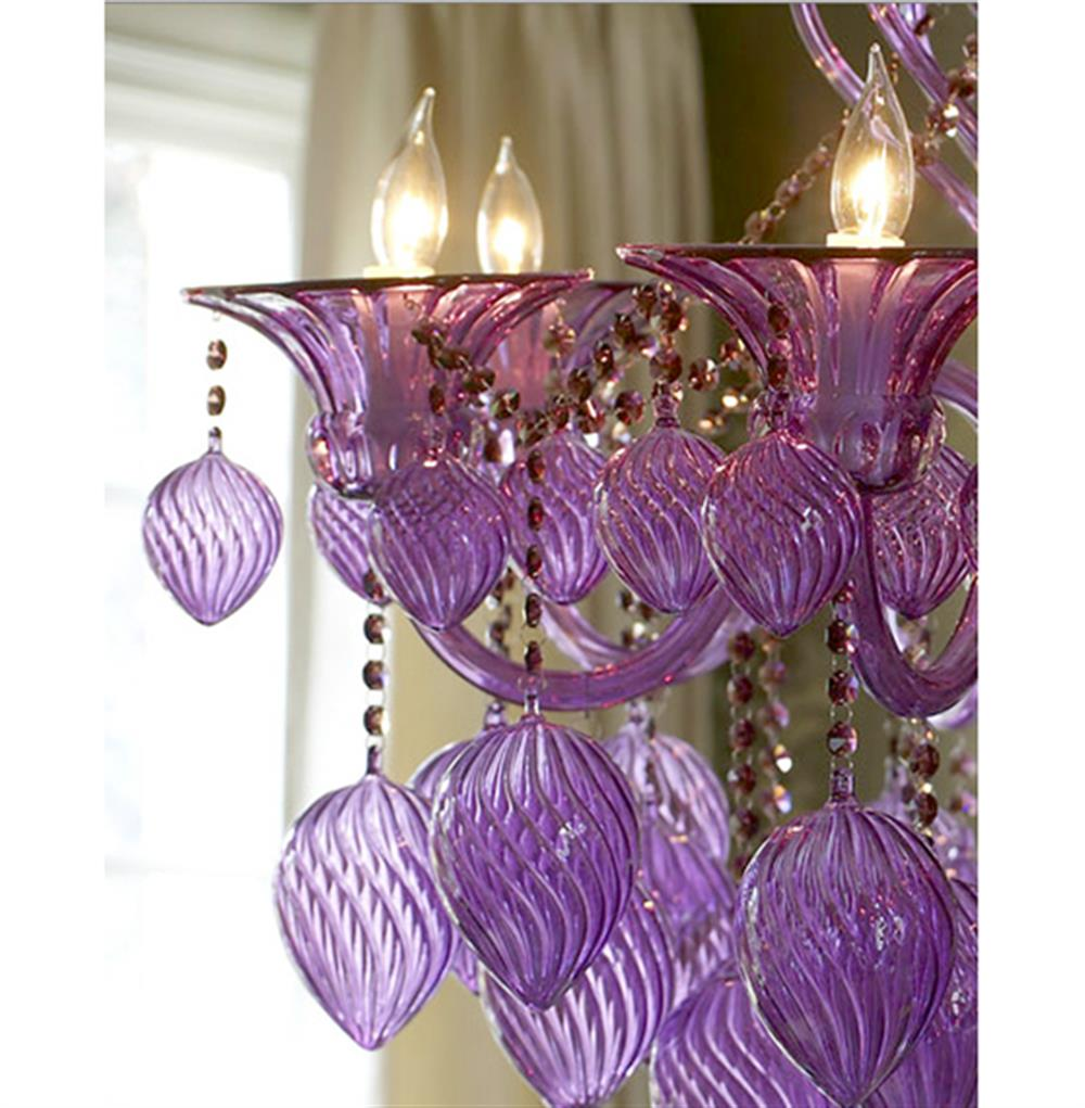 Bella vetro 8 light purple murano glass chandelier kathy kuo home aloadofball Images