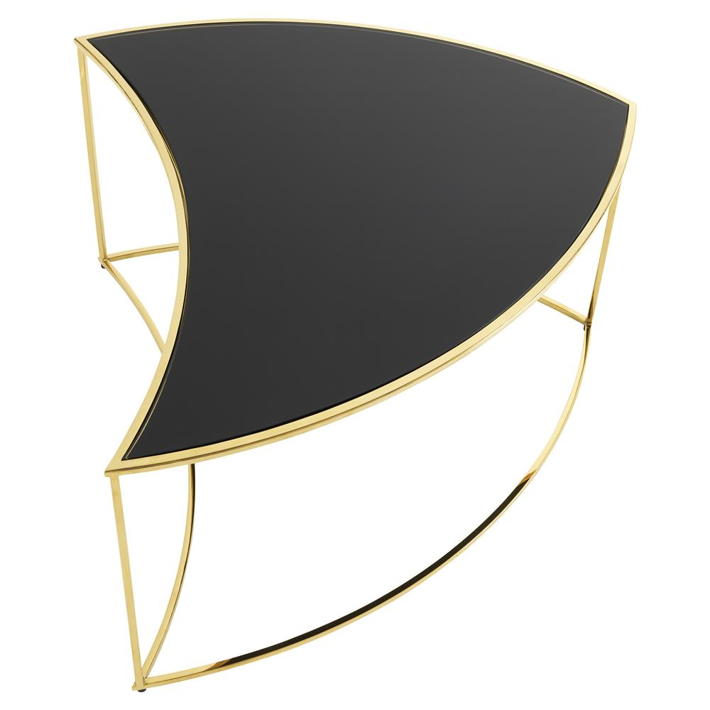 Tanquin Black Glass And Gold Coffee Table: Eichholtz Carter Hollywood Regency Black Glass Gold Round