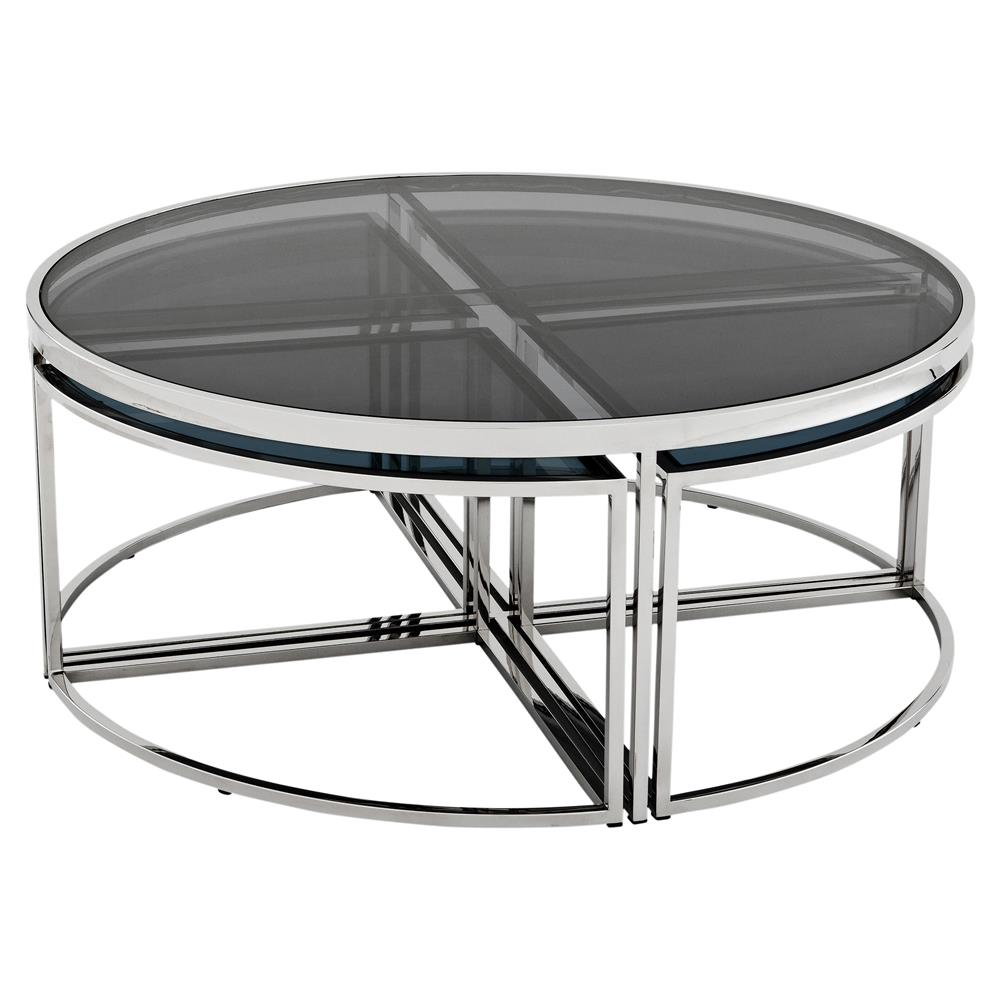 ... Round Nesting Silver Coffee Table | Kathy Kuo Home · View Full Size ...