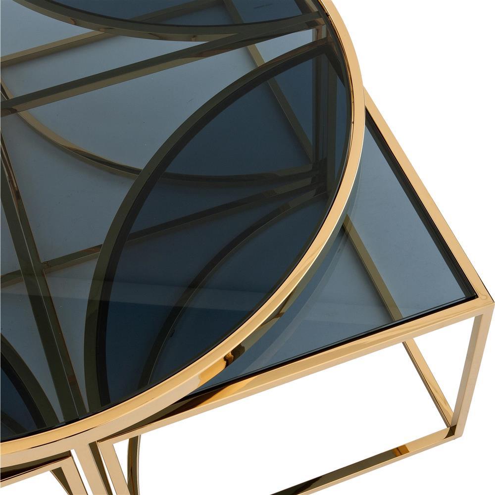 Eichholtz Padova Modern Classic Smoked Glass Round Nesting ...