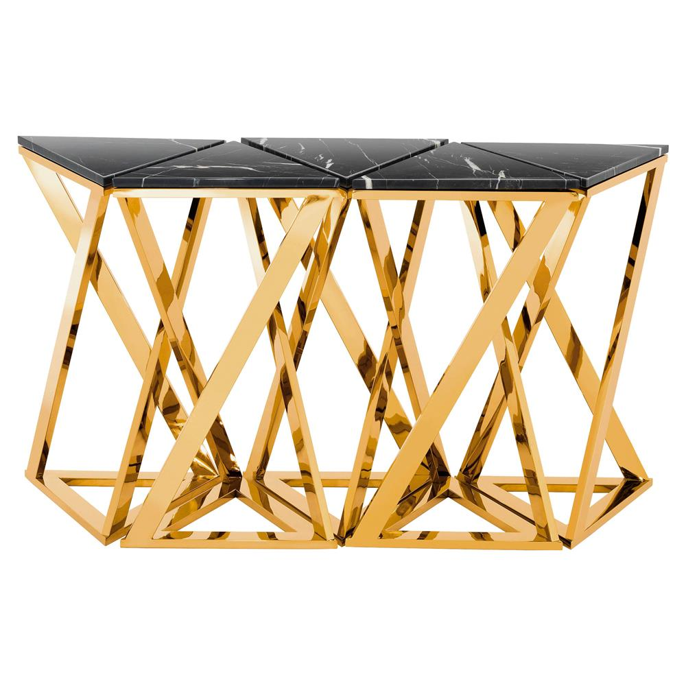 Eichholtz galaxy modern classic black marble gold console table view full size geotapseo Image collections
