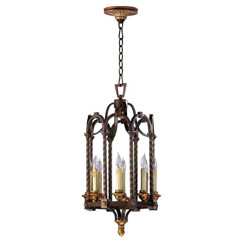 San giorgio spanish revival 8 light bronze foyer pendant for Spanish revival lighting