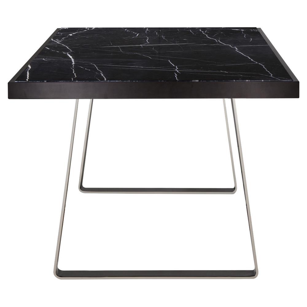 Kelly hoppen jopling modern classic stainless steel black for Modern classic table