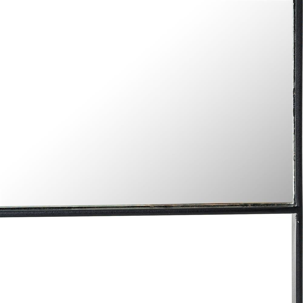 Black Iron Floor Mirror Kathy Kuo Home View Full Size