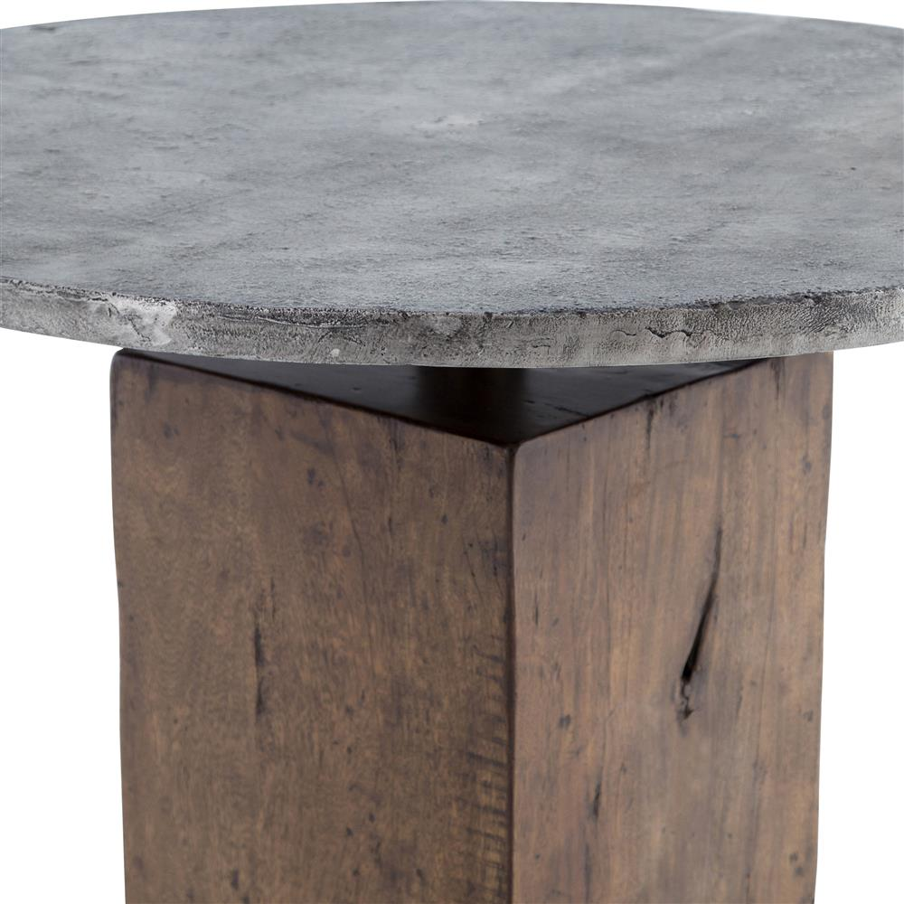 ... Levitan Industrial Lodge Weathered Wood Metal Round Bistro Table |  Kathy Kuo Home ...
