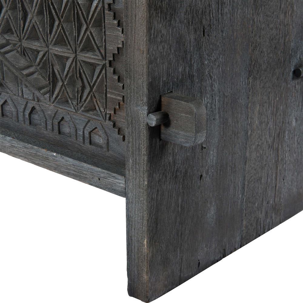Mitra Global Bazaar Dark Reclaimed Wood Storage Trunk