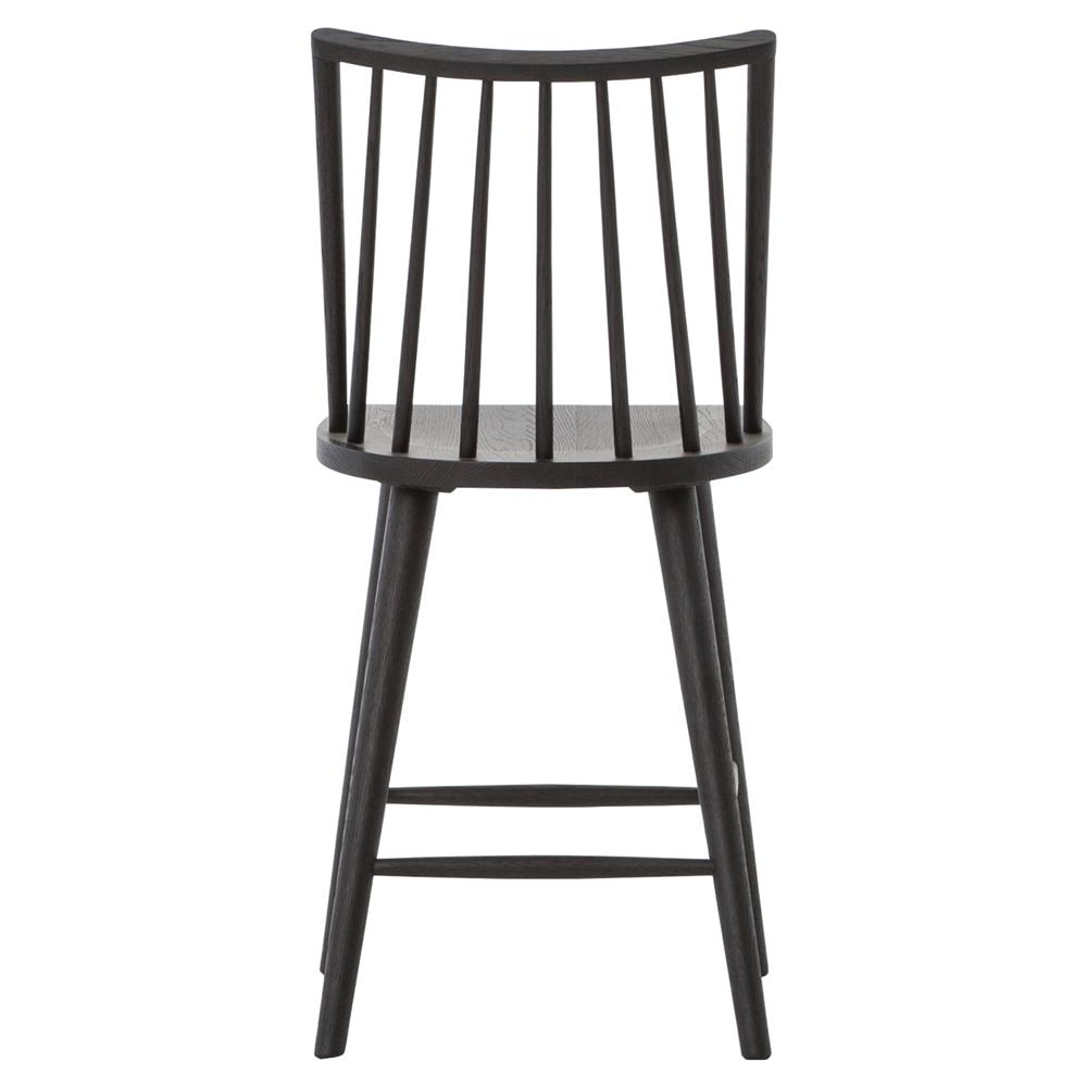 pruitt modern rustic black oak wood danish counter bar stool. Black Bedroom Furniture Sets. Home Design Ideas