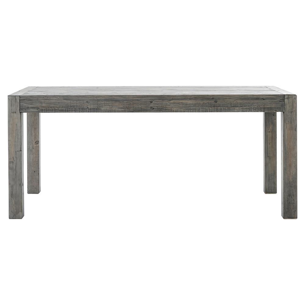 Neibolt Rustic Lodge Dark Grey Reclaimed Wood Rectangular Dining Table - Black wood rectangular dining table