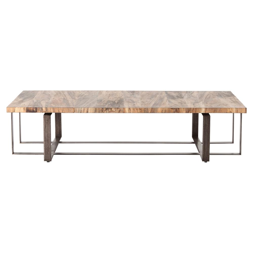 Rollins Industrial Loft Bronze Iron Coffee Table: Vonn Industrial Loft Light Wood Iron Rectangular Coffee Table