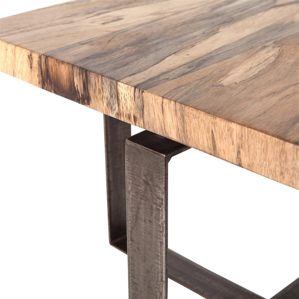 Industrial Coffee Table Lamp: Vonn Industrial Loft Light Wood Iron Rectangular Coffee Table