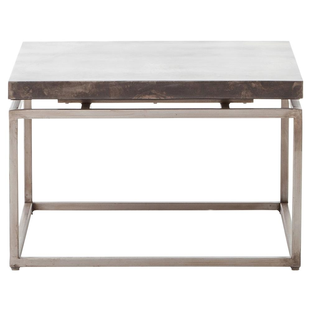 Rollins Industrial Loft Bronze Iron Coffee Table Kathy Kuo: Bram Industrial Loft Acid Washed Iron Square Bunching
