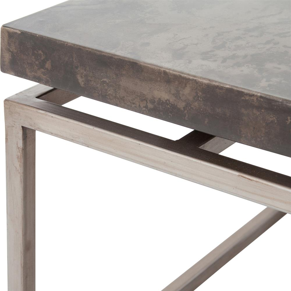 Bram industrial loft acid washed iron square bunching coffee table bram industrial loft acid washed iron square bunching coffee table kathy kuo home geotapseo Gallery