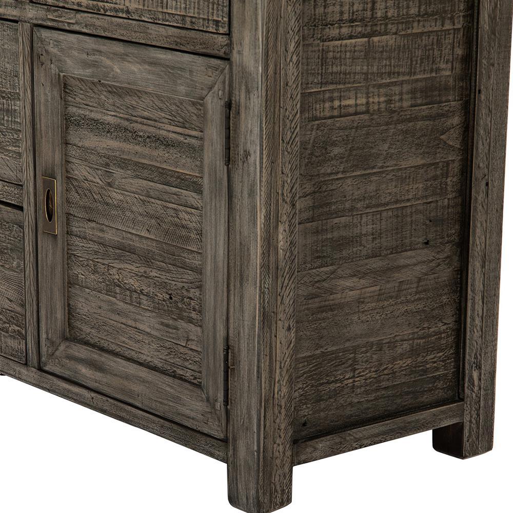 Neibolt Rustic Lodge Dark Grey Reclaimed Wood Sideboard Kathy Kuo Home
