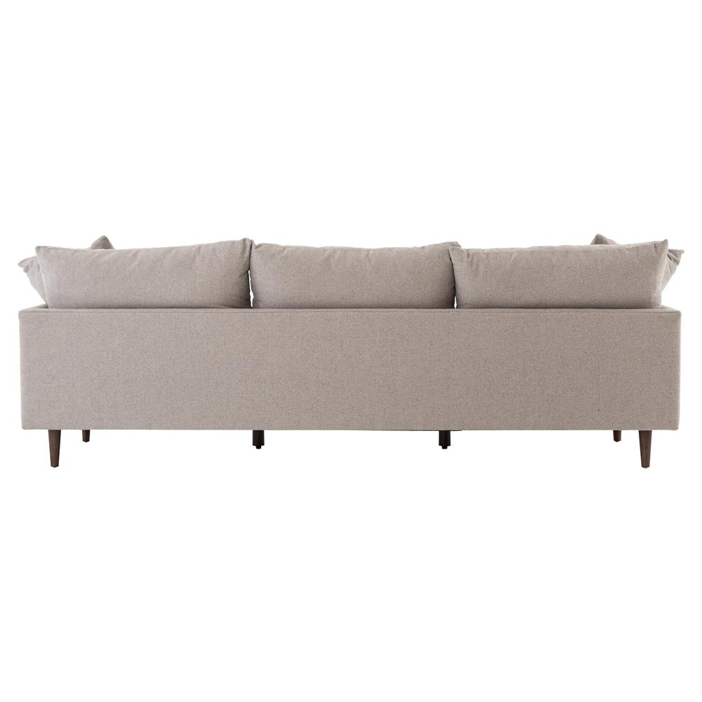 Brie Modern Clic Parawood Legs Beige Cushion Back Sofa Kathy Kuo Home