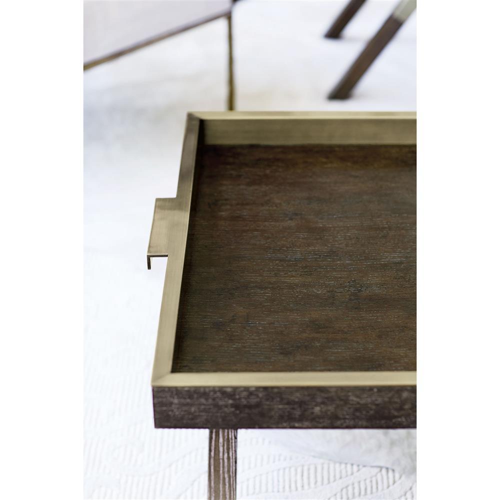 Clarke Modern Clic Dark Wood Rectangular Tray Top Coffee Table Kathy Kuo Home
