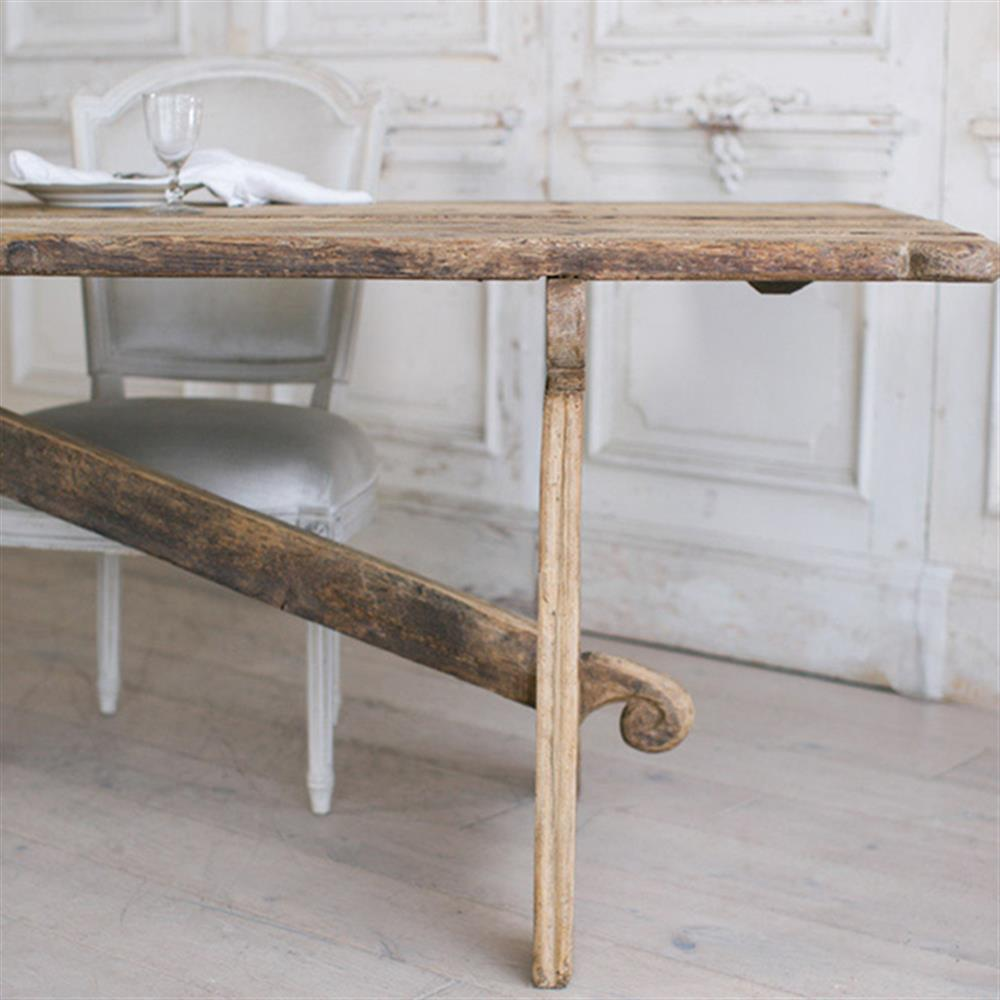 Eloquence french country style antique dining table 1800 for Country style dining table