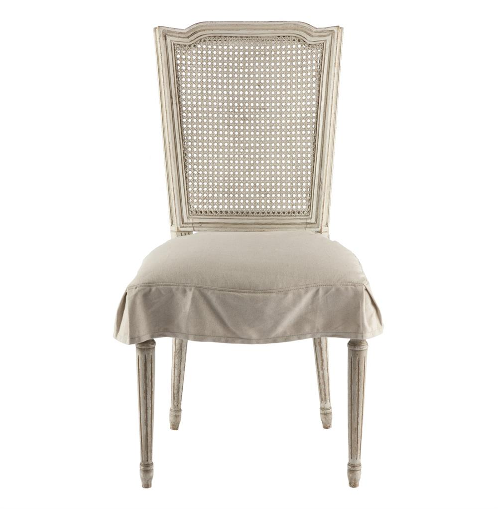 Pair French Country Antique White Slip Cover Dining Chair  : product27311 from www.kathykuohome.com size 1000 x 1021 jpeg 70kB