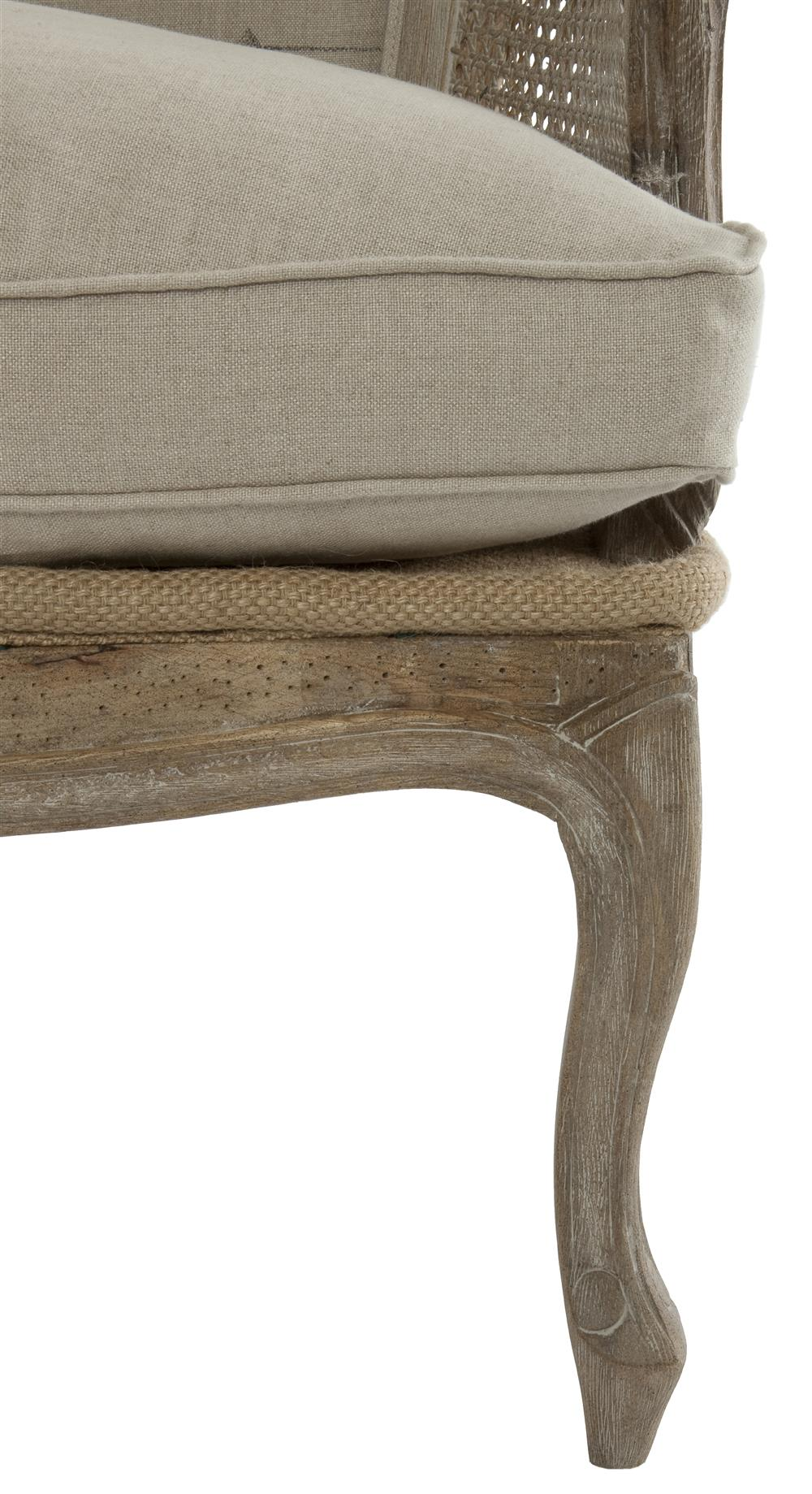 French Country Grain Sack Burlap Occasional Chair | Kathy Kuo Home