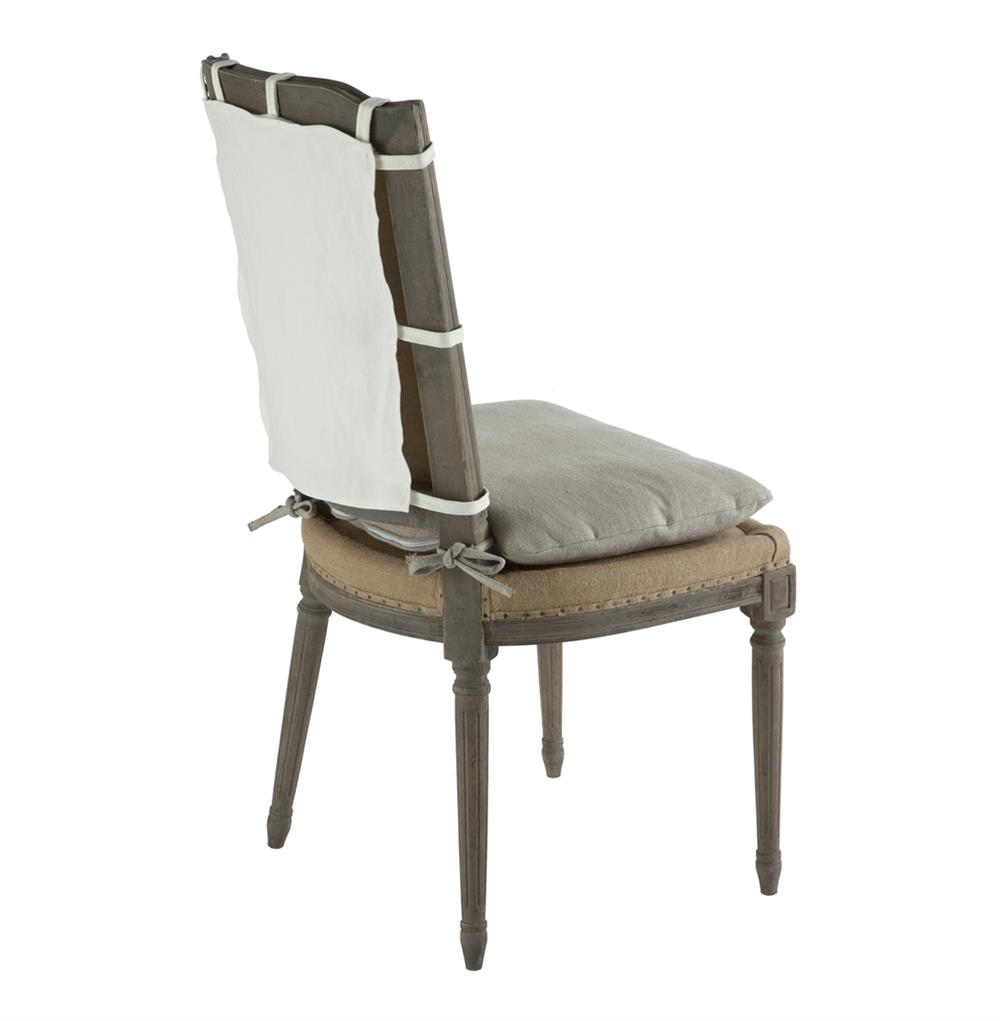 Pair French Country Weathered Gray Dining Chair with Slip  : product27361 from www.kathykuohome.com size 1000 x 1021 jpeg 42kB