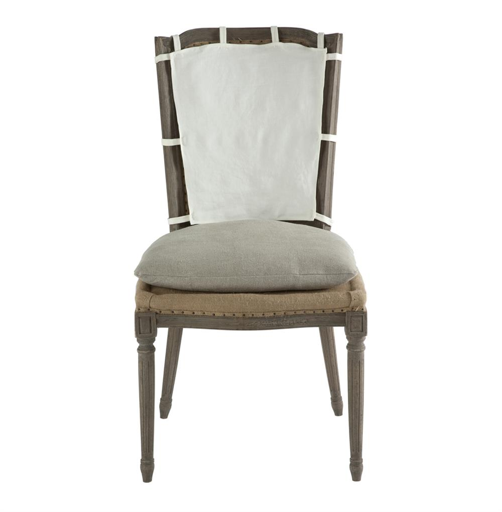 Pair French Country Weathered Gray Dining Chair with Slip  : product27364 from www.kathykuohome.com size 1000 x 1021 jpeg 45kB