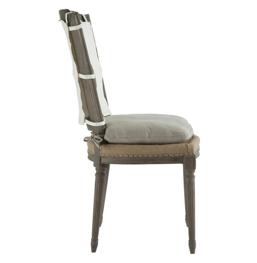 Pair French Country Weathered Gray Dining Chair with Slip  : product27365 from www.kathykuohome.com size 1000 x 1021 jpeg 39kB